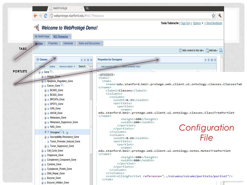 TABS PORTLETS Configuration File