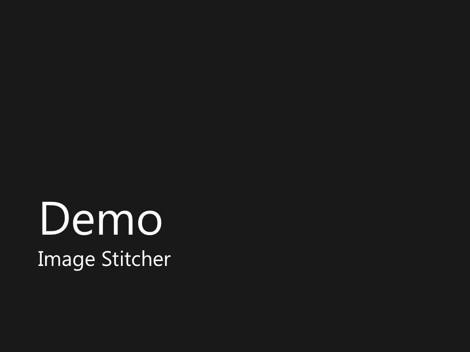 Demo Image Stitcher