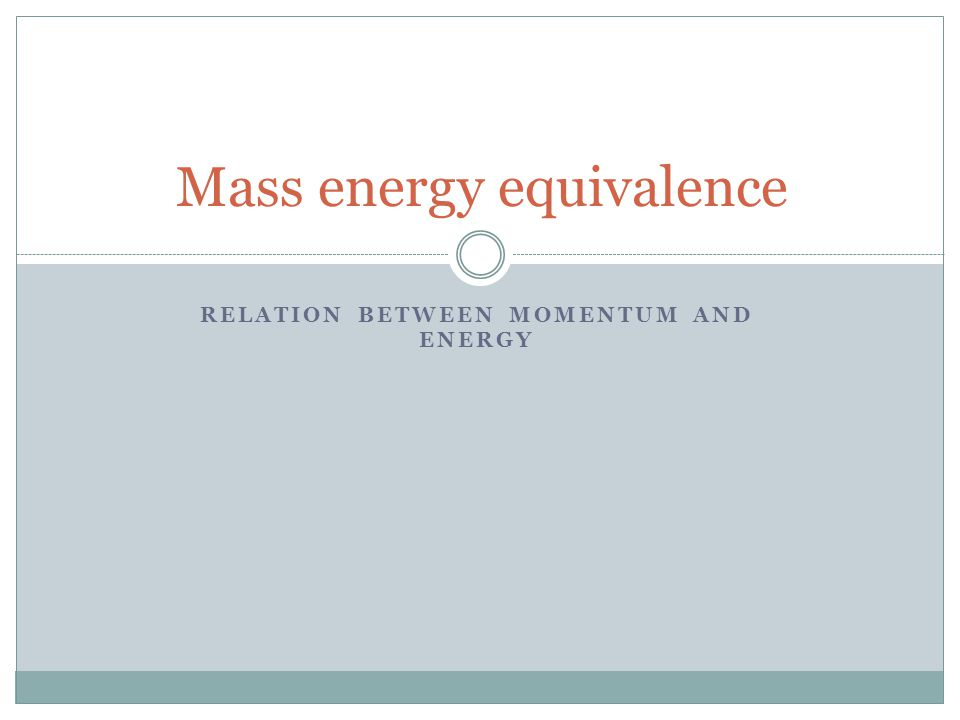 Example 2 A nucleus of mass m emits a gamma ray of frequency.Show that the loss of internal energy by the nucleus is not but is Solution The momentum of gamma ray photon is According to the law of conversation of momentum, the nucleus having mass m will recoil with the momentum in the back ground direction.