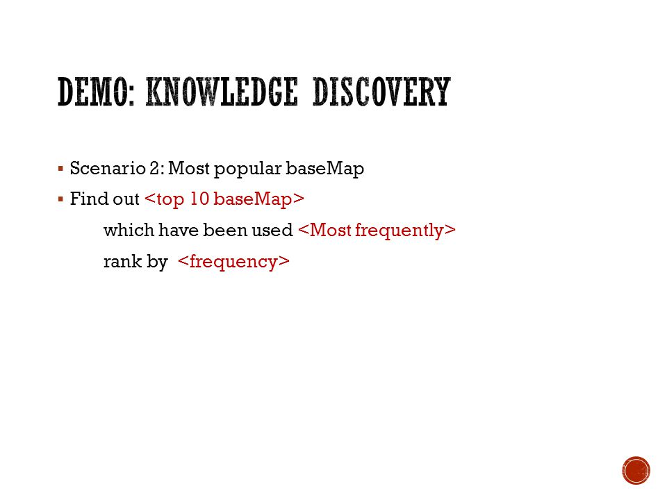 Scenario 2: Most popular baseMap Find out which have been used rank by