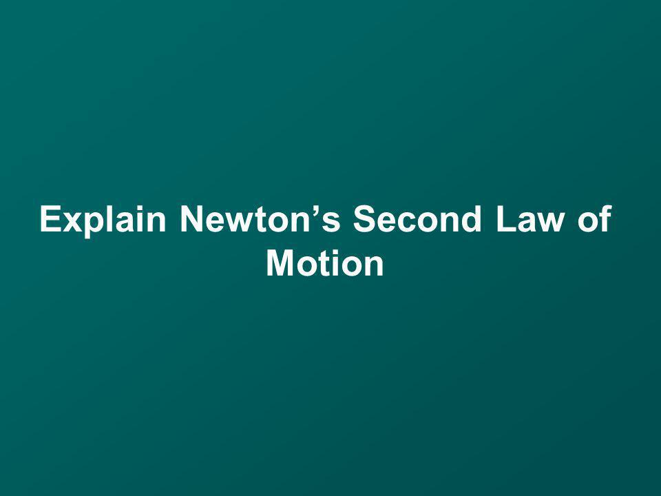 Explain Newtons Second Law of Motion