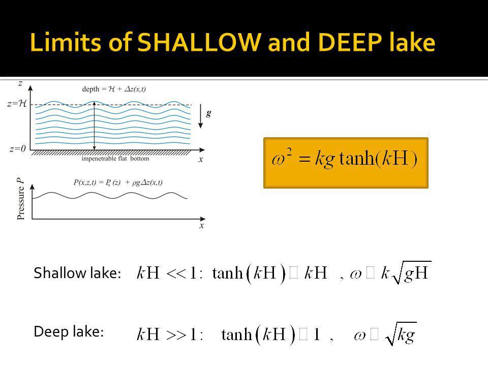 Shallow lake: Deep lake: