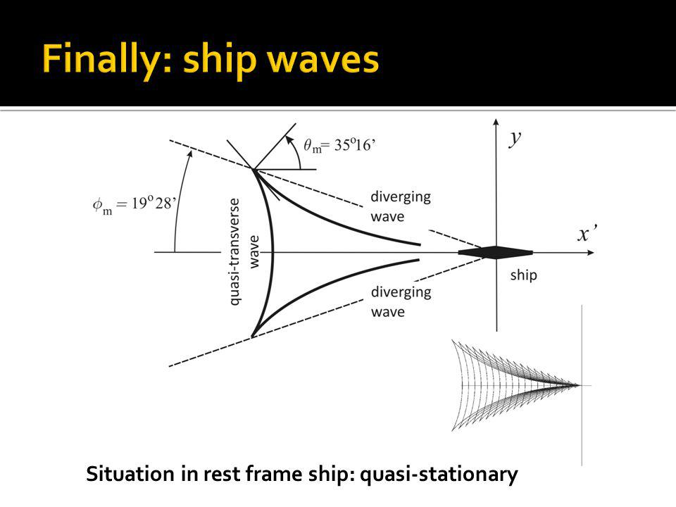 Situation in rest frame ship: quasi-stationary