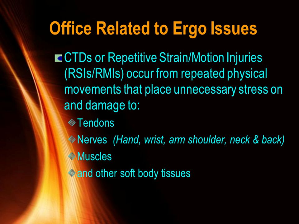 Office Related to Ergo Issues Eyes Cont.