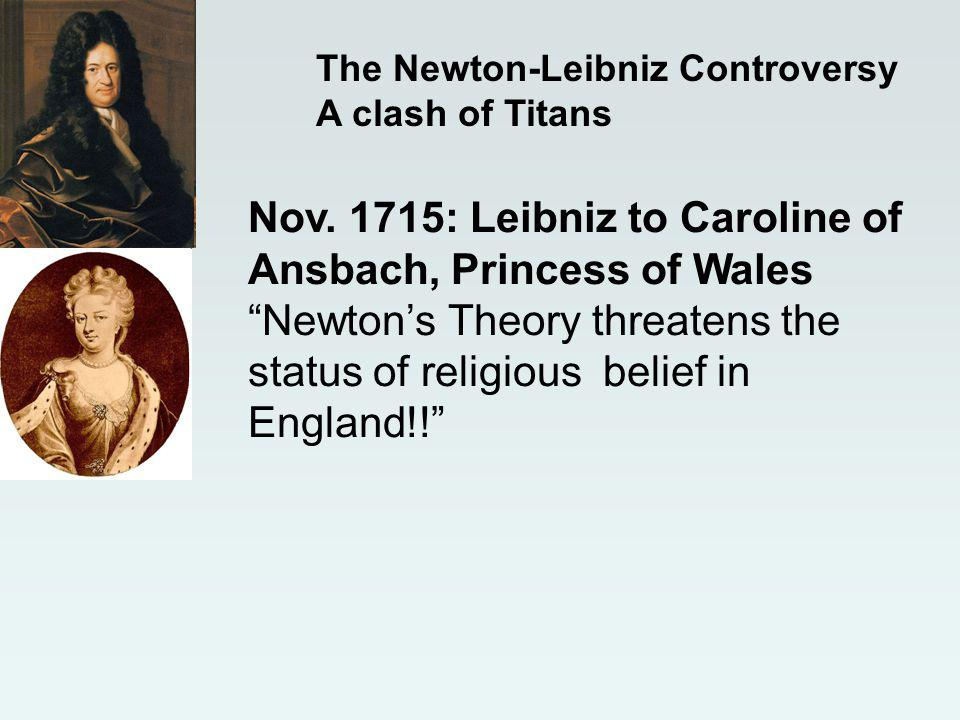 The Newton-Leibniz Controversy A clash of Titans Nov.