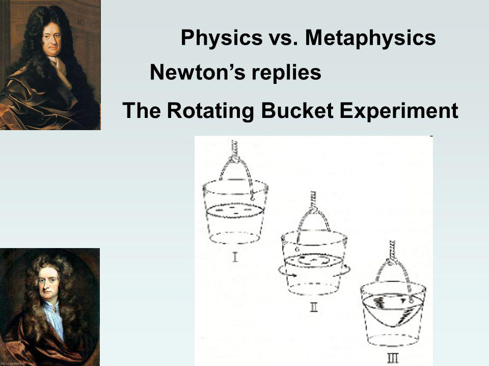 Physics vs. Metaphysics Newtons replies The Rotating Bucket Experiment