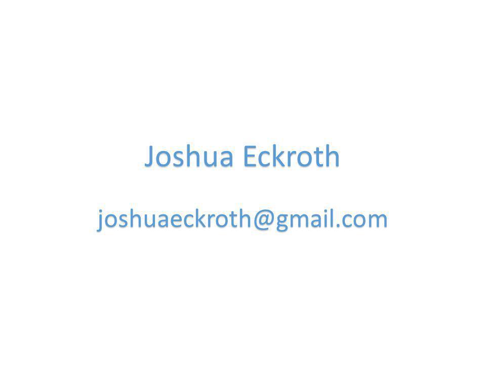 Joshua Eckroth joshuaeckroth@gmail.com