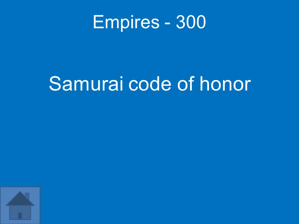 Empires - 300 Samurai code of honor
