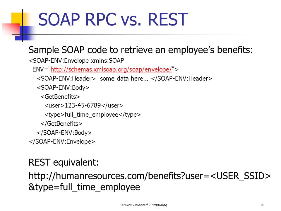 SOAP RPC vs.