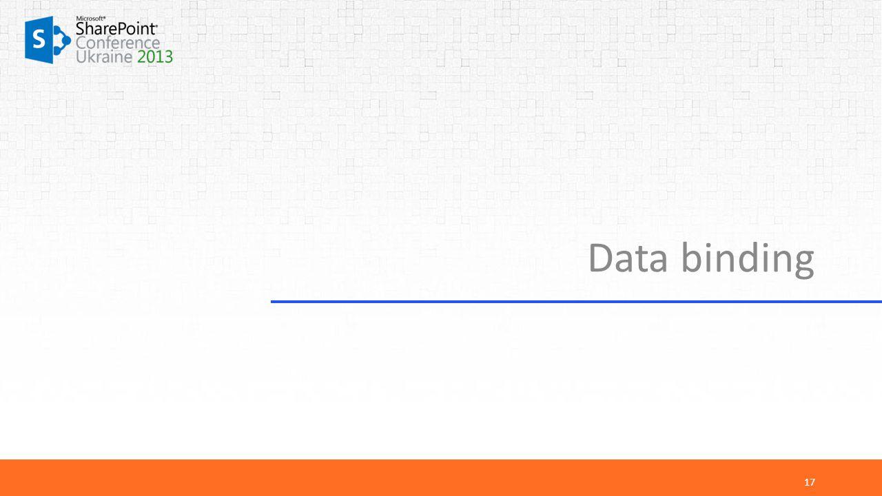 Data binding 17