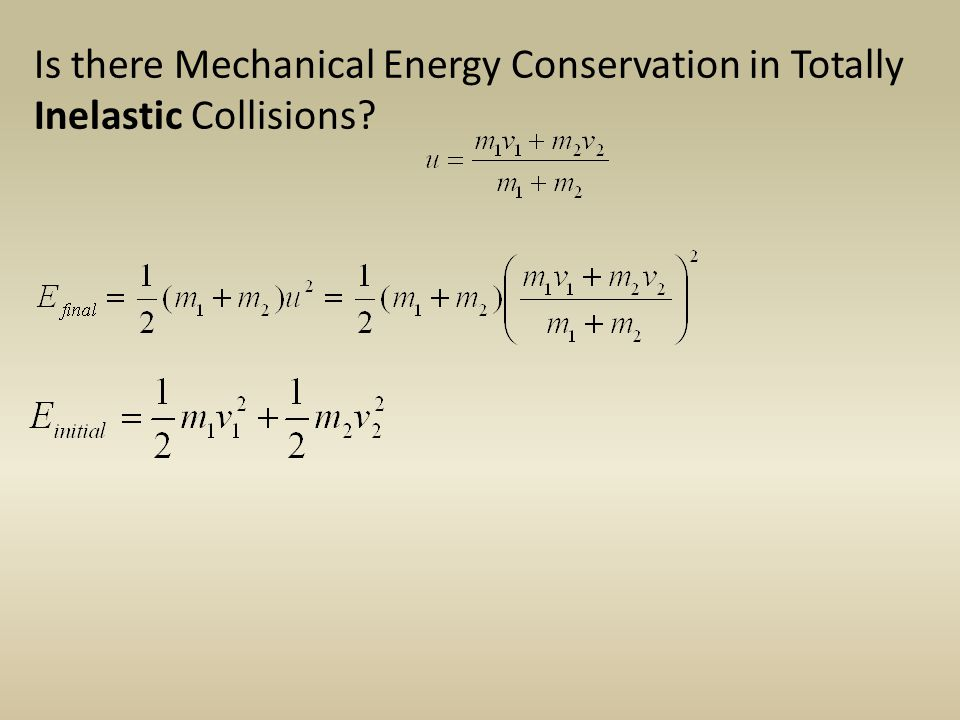 Is there Mechanical Energy Conservation in Totally Inelastic Collisions