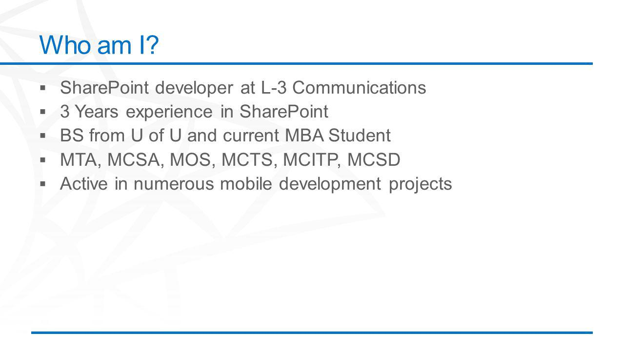 ©2012 Microsoft Corporation. All rights reserved. Content based on SharePoint 2013 Technical Preview and published July 2012. Who am I?
