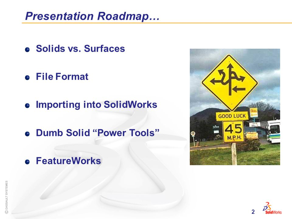 2 Presentation Roadmap… Solids vs.