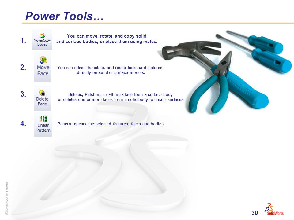 30 Power Tools… 1. 2. 3. 4.