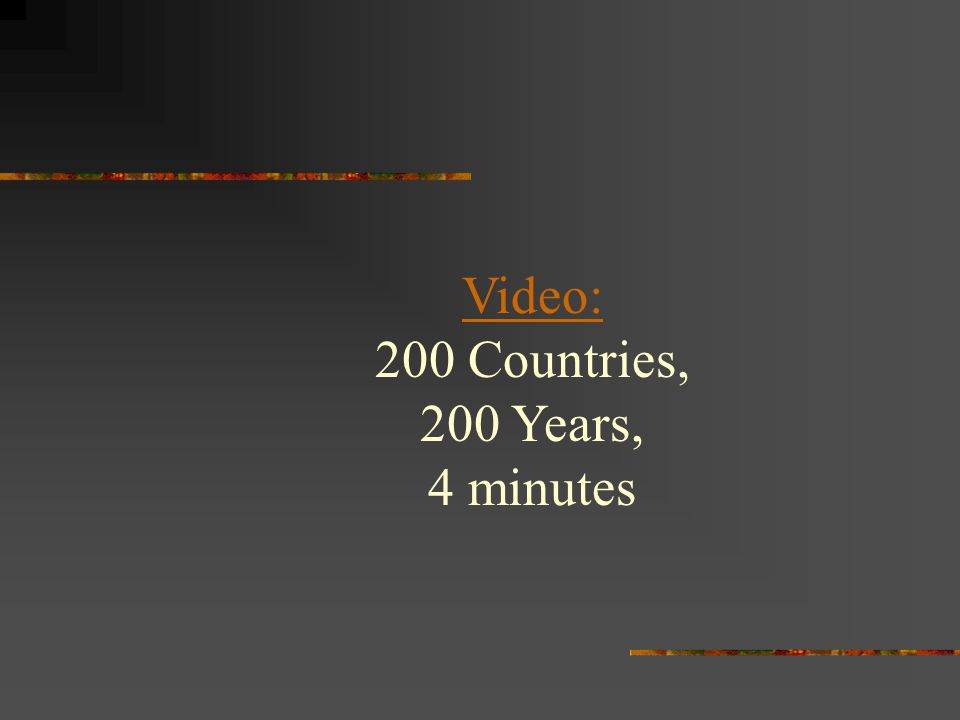 Video: 200 Countries, 200 Years, 4 minutes