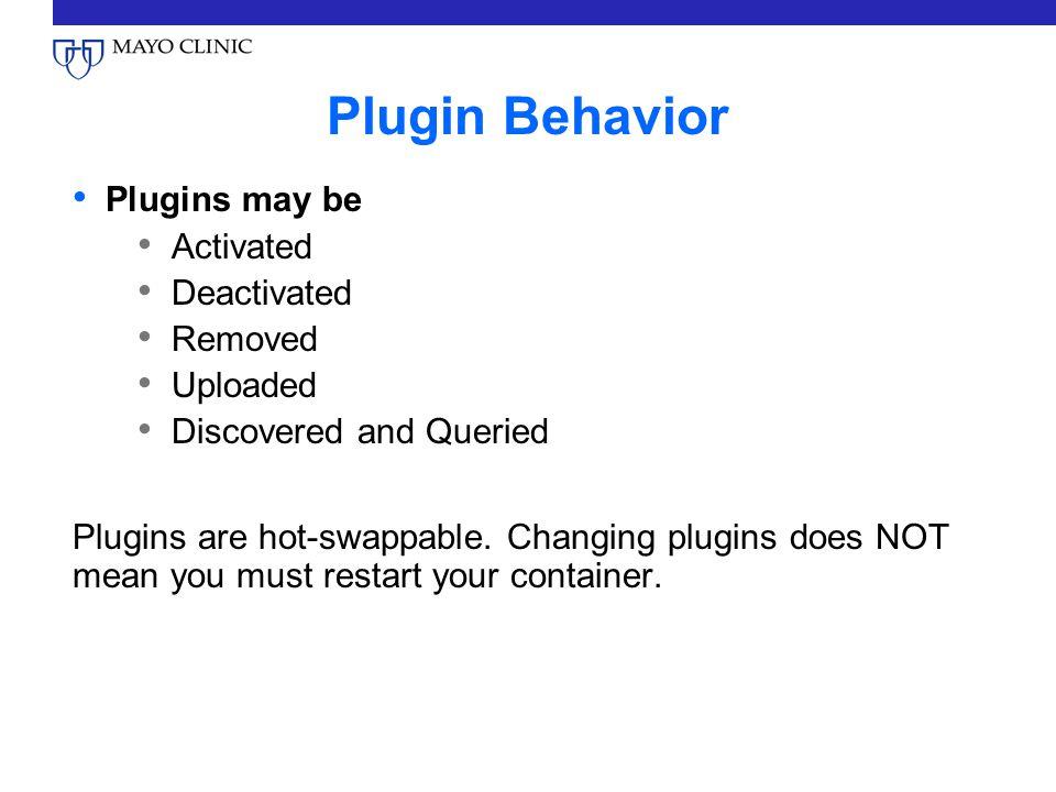 Plugin API An admin API for plugin management is provided.