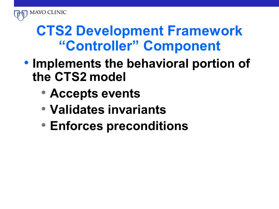 Why a Development Framework.CTS2 isnt one implementation of the spec, it (may be) many.