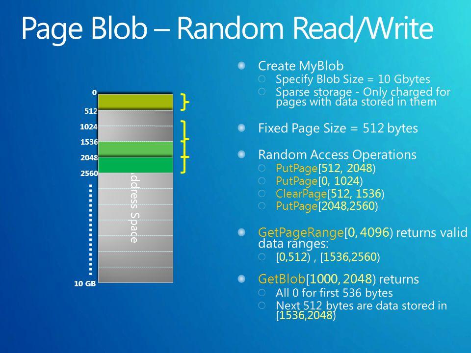 0 10 GB 10 GB Address Space 512 1024 1536 2048 2560