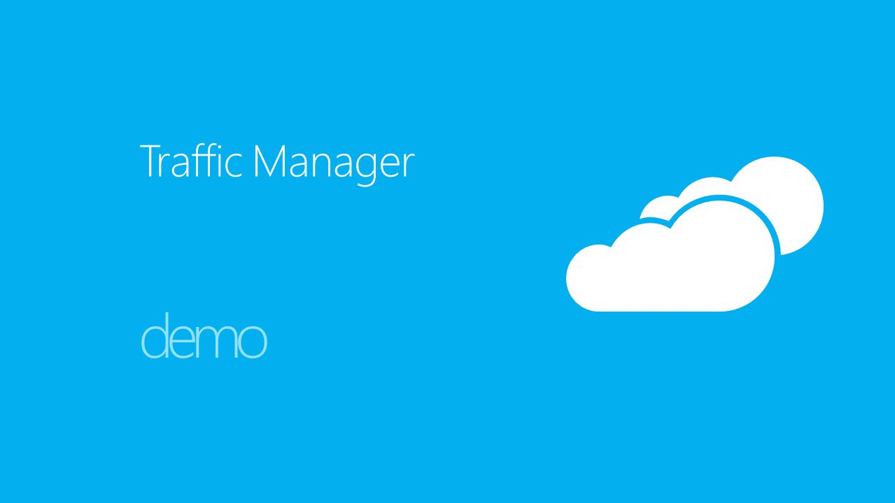 Traffic Manager demo