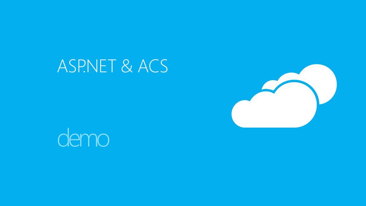 ASP.NET & ACS demo