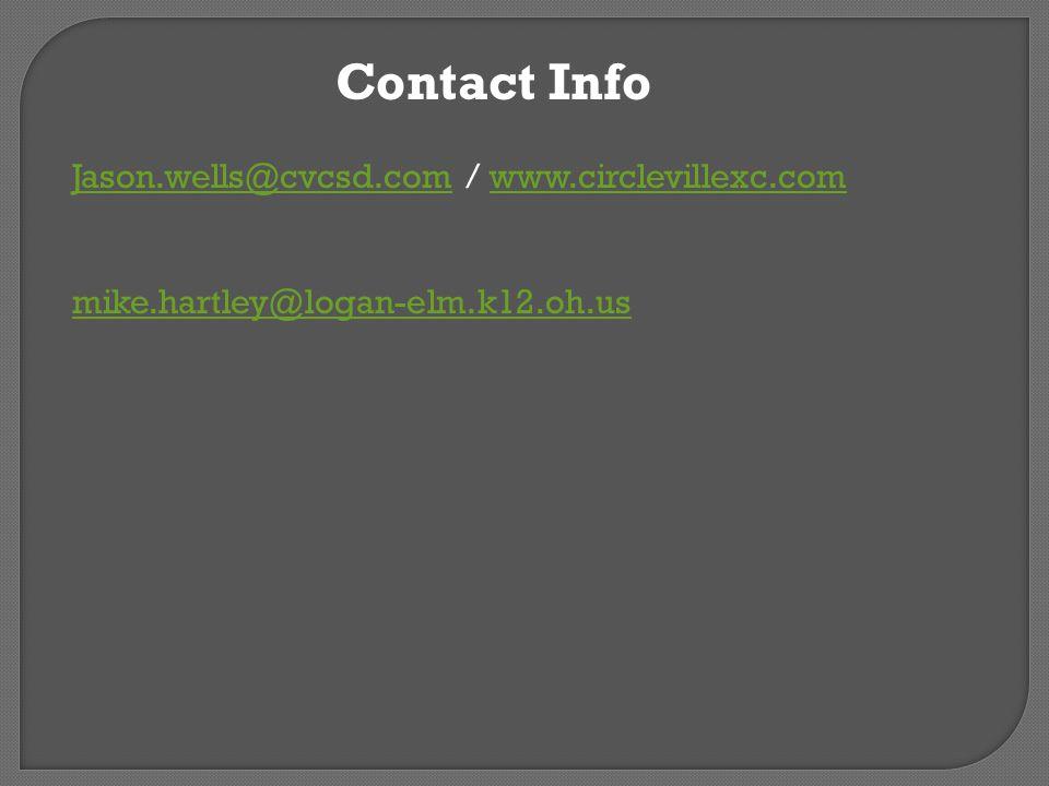 Contact Info Jason.wells@cvcsd.comJason.wells@cvcsd.com / www.circlevillexc.comwww.circlevillexc.com mike.hartley@logan-elm.k12.oh.us