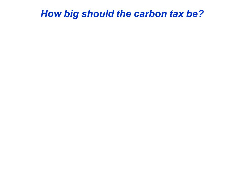 How big should the carbon tax be