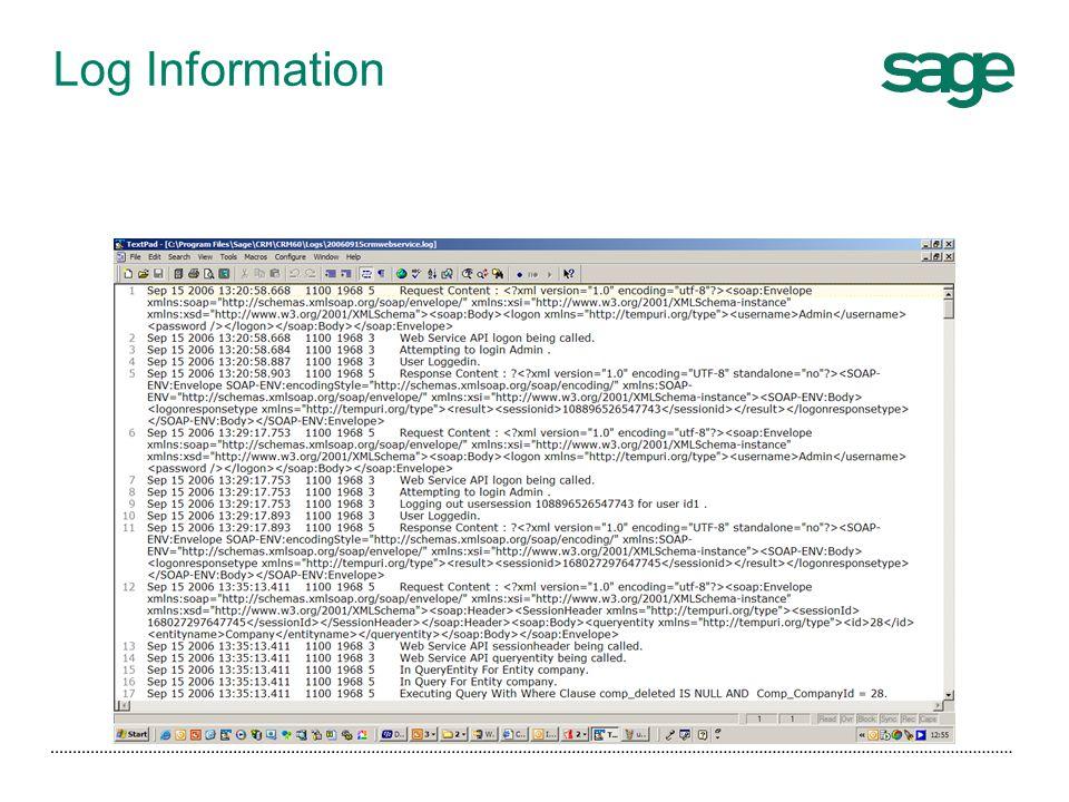 Log Information
