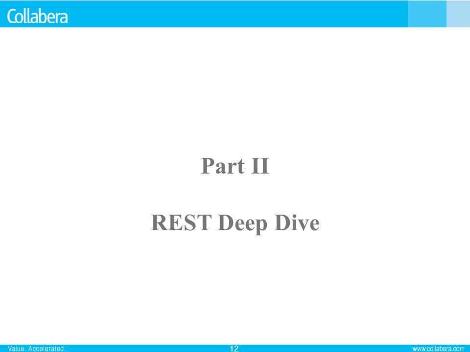 12 Part II REST Deep Dive