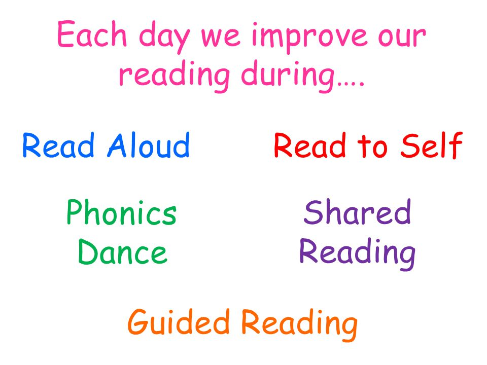 Each day we improve our reading during….