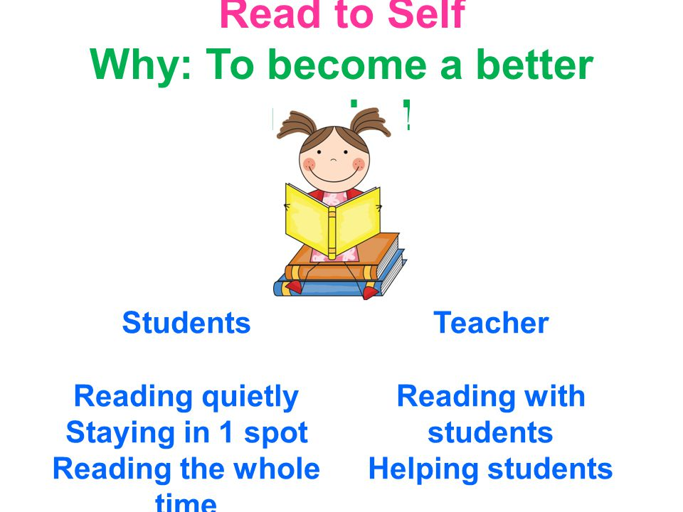 Read to Self Why: To become a better reader.