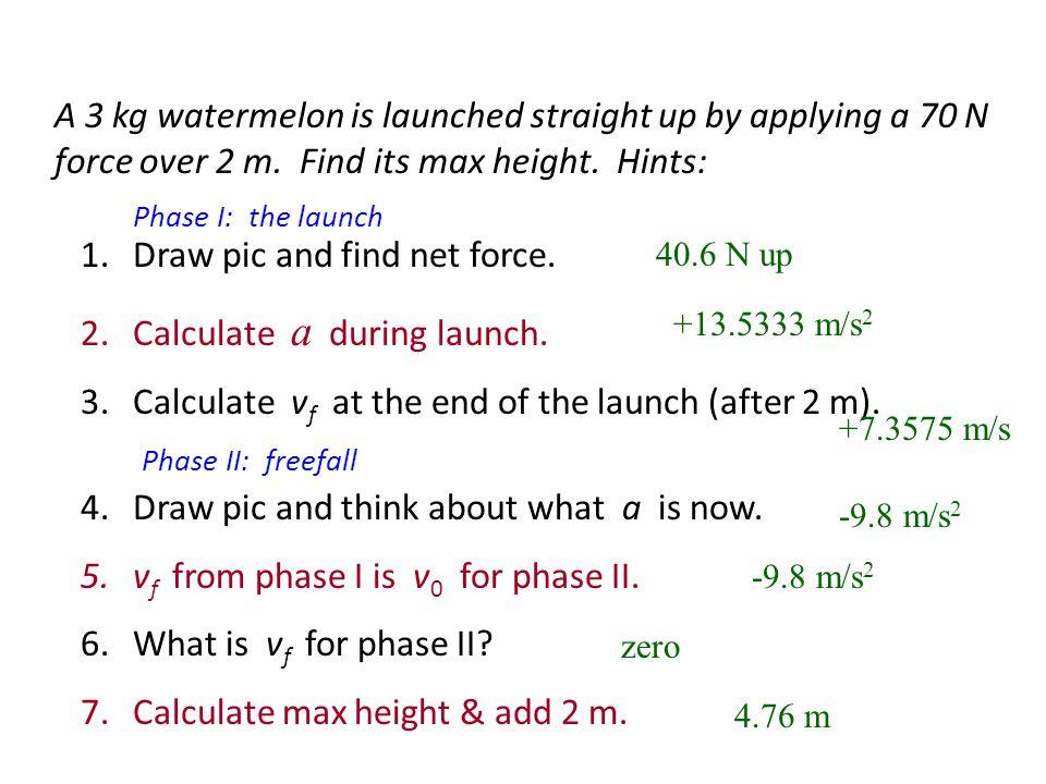Sample Problem 1 1. F net 2. a 3. v after 5 s 4. x after 5 s Goblin 400 N Ogre 1200 N Troll 850 N Treasure 300 kg = 50 N left = 0.167 m/s 2 left = 0.8