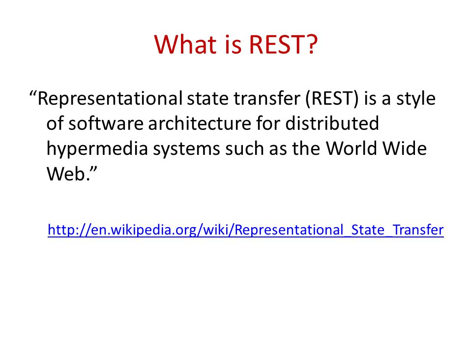 HTTP GET Remember that GET is supposed to be a safe operation, i.e.