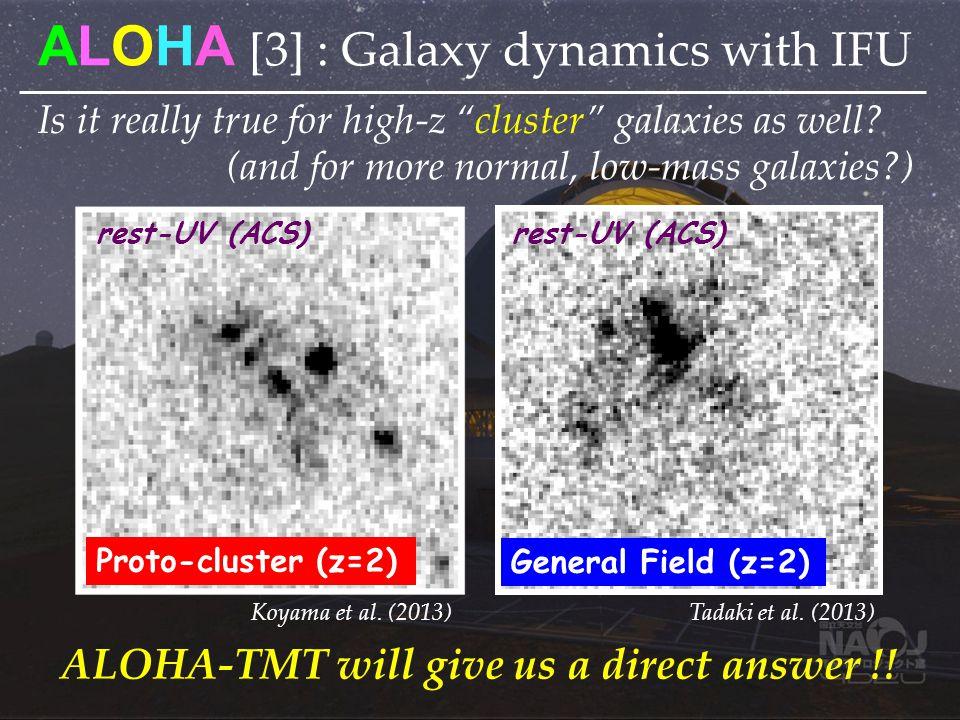 Is it really true for high-z cluster galaxies as well? Proto-cluster (z=2) General Field (z=2) rest-UV (ACS) Tadaki et al. (2013) Koyama et al. (2013)