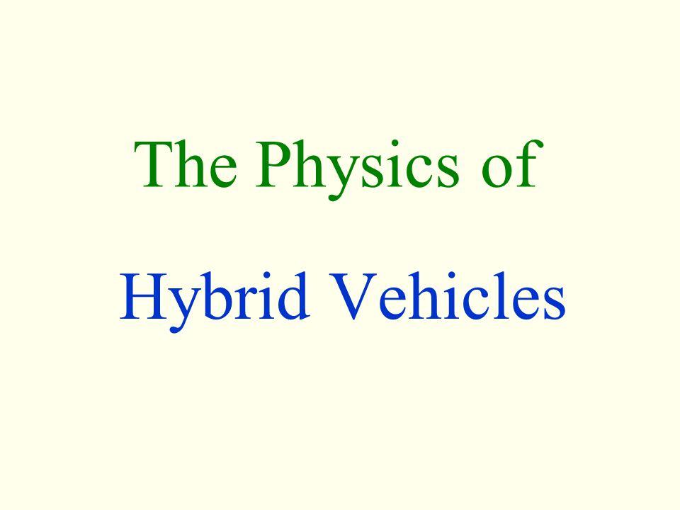 The Physics of Hybrid Vehicles