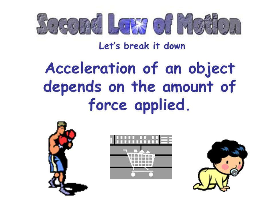 Acceleration of an object depends on the mass of the object. Lets break it down If the force applied is the same, the acceleration of the empty cart i