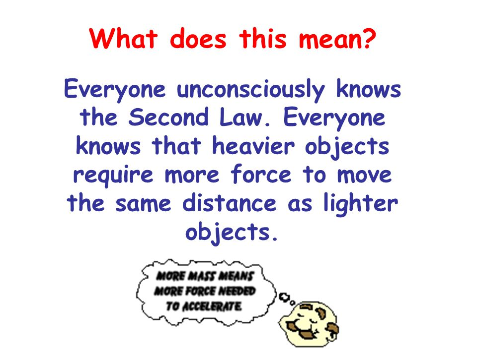 Acceleration of an object depends on the amount of force applied. Lets break it down