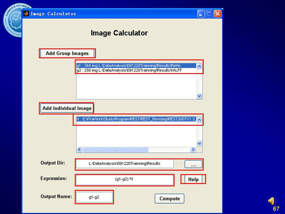 67 REST Image Calculator