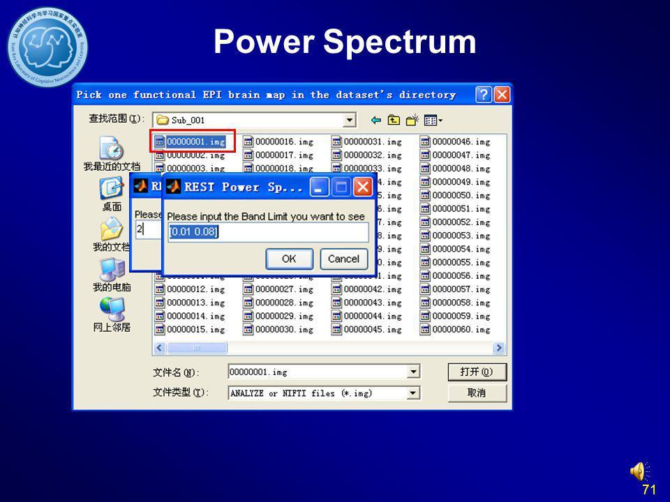 71 Power Spectrum