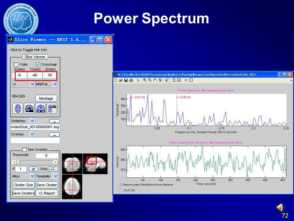 72 Power Spectrum