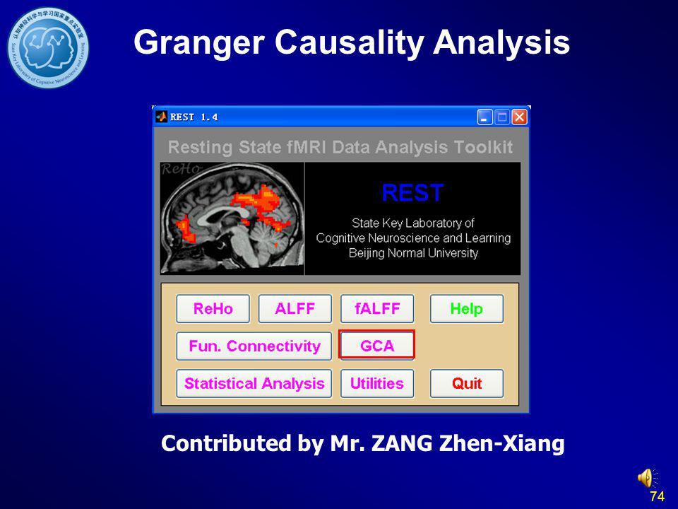 74 Granger Causality Analysis Contributed by Mr. ZANG Zhen-Xiang
