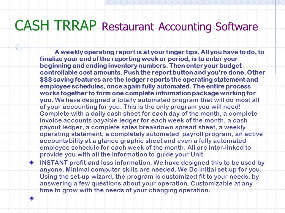 Accounts payable ledger Your software will have all of your names and titles pre-designed to give you the feel as if was built to look and calculate to fit your needs.