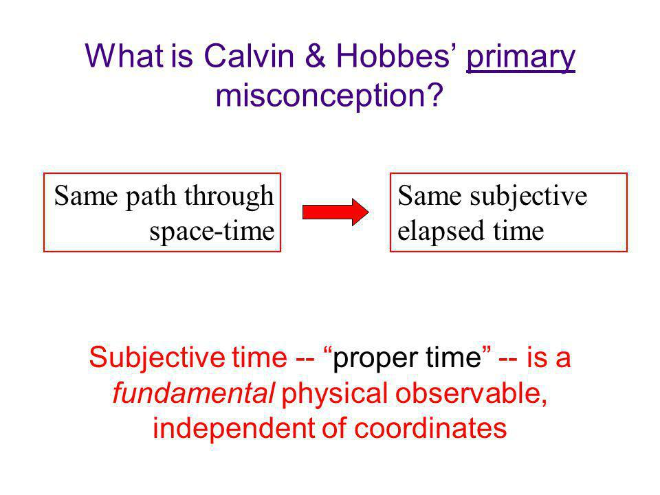 What is Calvin & Hobbes primary misconception.