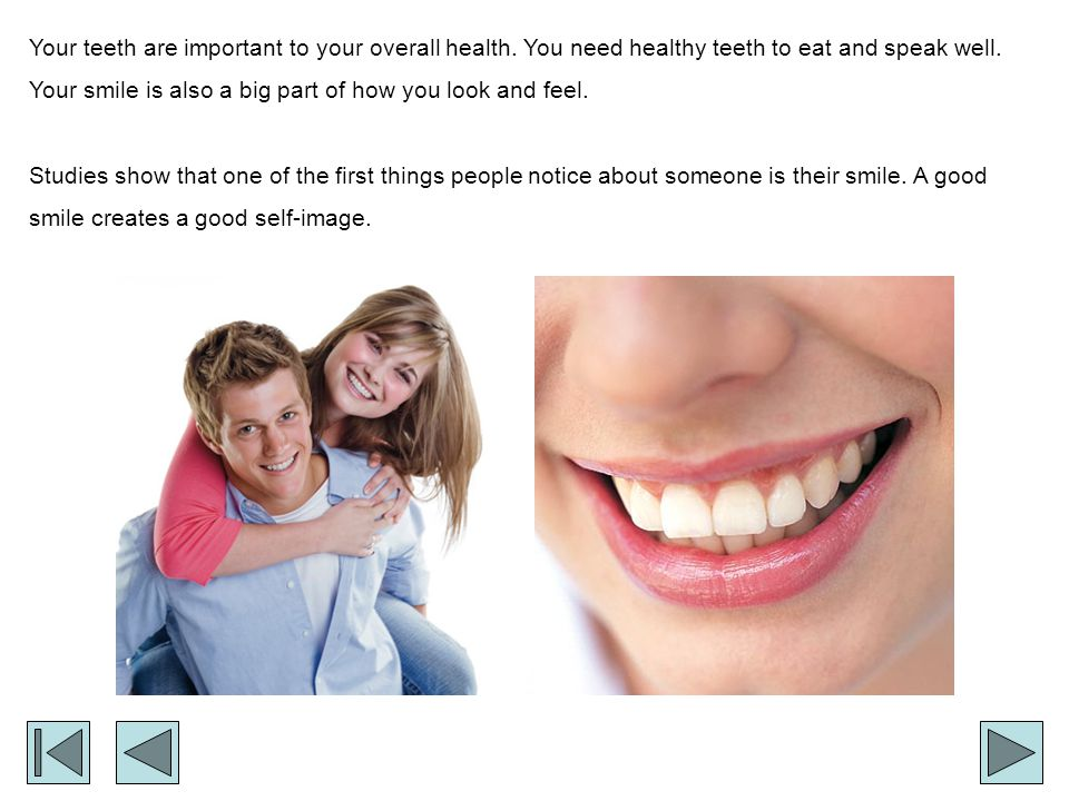 Good Eating Habits If you have sweets, eat or drink them with meals, because saliva helps wash acid off your teeth.