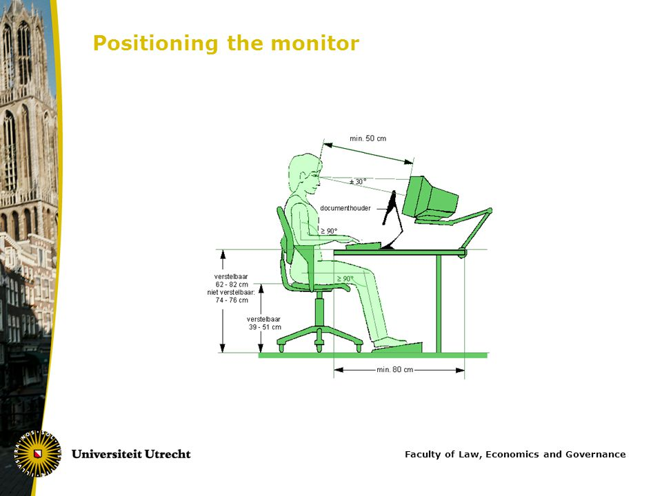 Positioning the monitor Faculty of Law, Economics and Governance