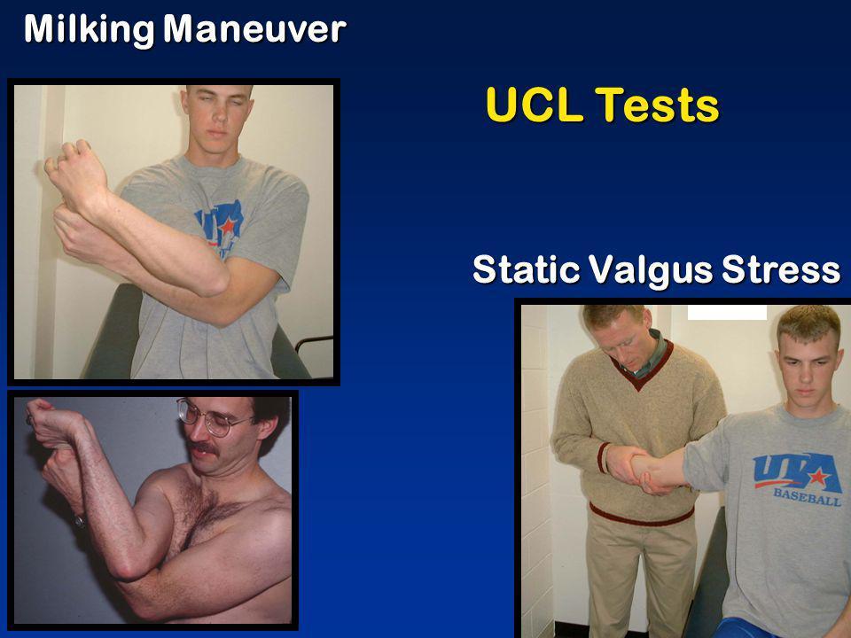 Milking Maneuver UCL Tests Static Valgus Stress