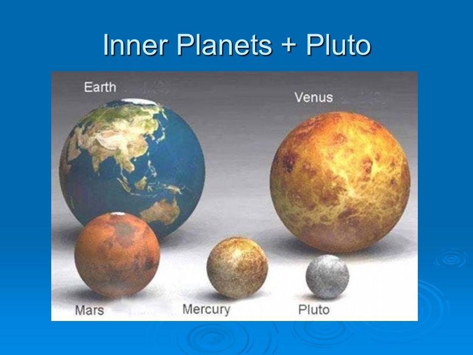 Inner Planets + Pluto