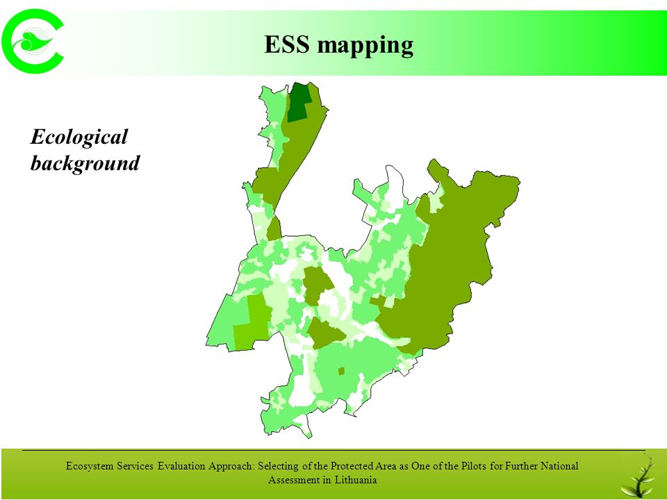 Ecosystem Services Evaluation Approach: Selecting of the Protected Area as One of the Pilots for Further National Assessment in Lithuania ESS mapping