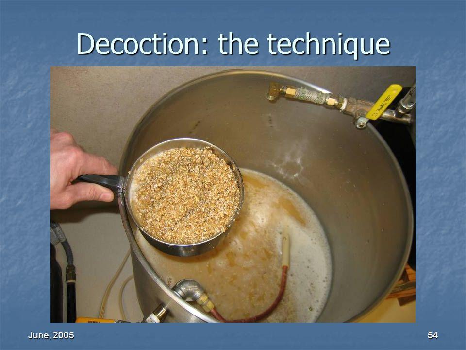 June, 200554 Decoction: the technique