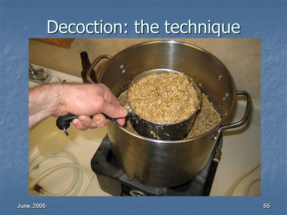 June, 200555 Decoction: the technique
