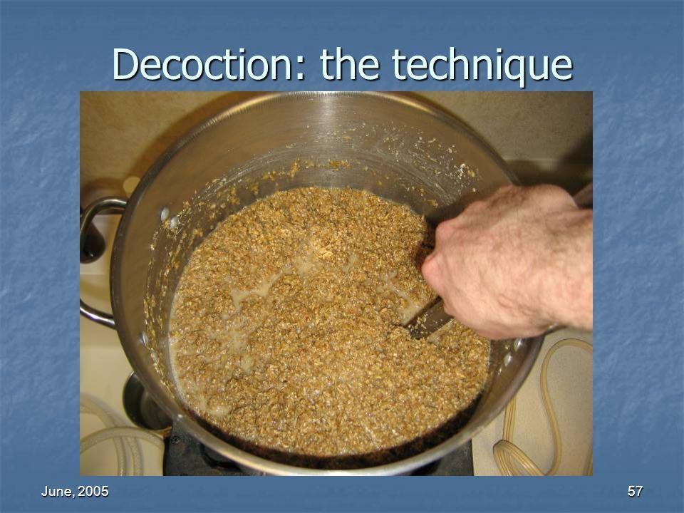 June, 200557 Decoction: the technique